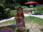 my daughter playing with the bubbles